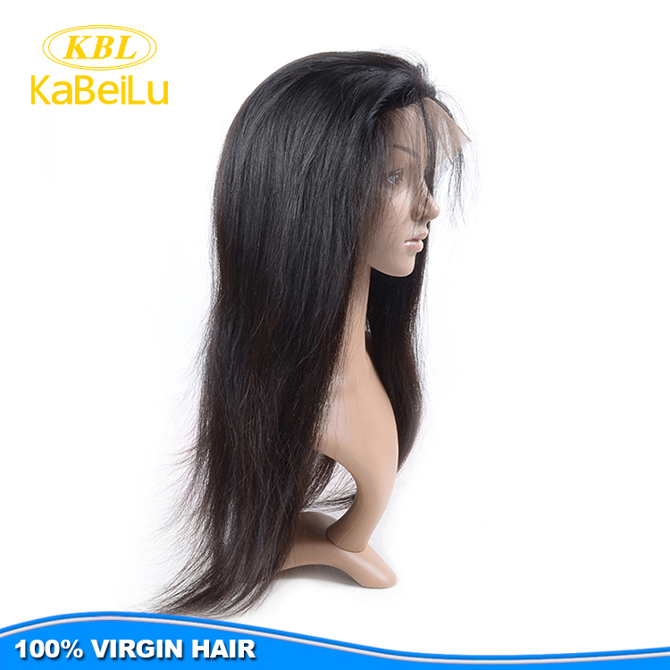 Soft and smooth skin part wig,full thin skin pu injection wig,100% virgin human hair skin top wig with bangs