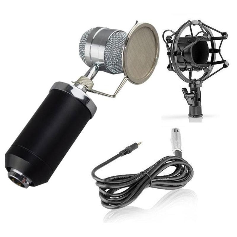 BM8000 Recording Dynamic Condenser Musical Microphone with Shock Mount фото
