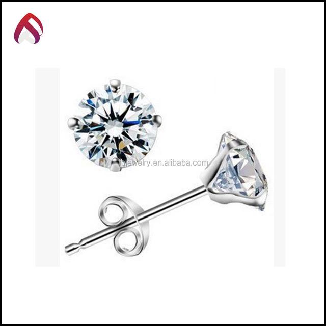 3dcd99c7b wholesale 925 Sterling Silver Jewelry CZ Round Studs Earrings, earrings  studs