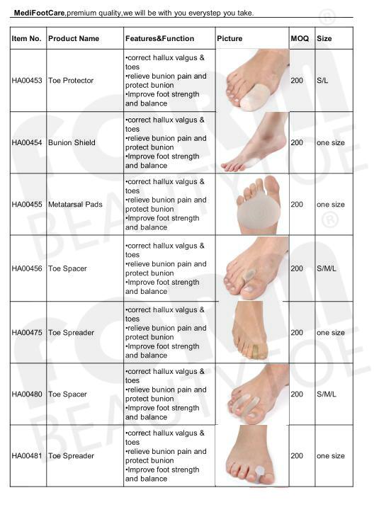 指圧 SlimToes 痩身インソール足マッサージ磁気治療の減量マッサージインソール、白 & 黒 HA00131