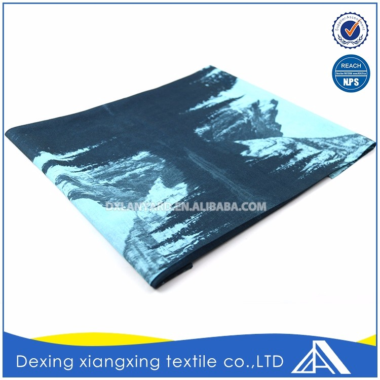 Face mask cheapest multifunctional neck landscape painting fashion tube seamless scarf/bandana manufacture