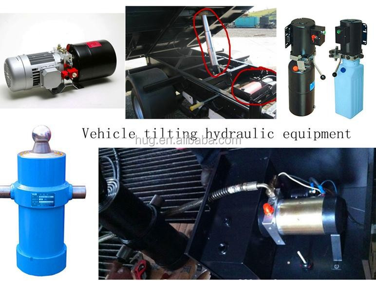Trailer hydraulic system includes a hydraulic power unit, the hydraulic cylinder