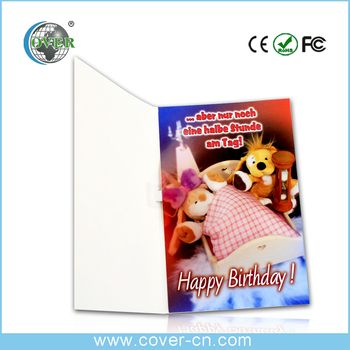 Hot selling new year greeting card and Christmas greeting with music