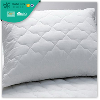 Soft White Microfiber Fabric Quilted Pillow Cases