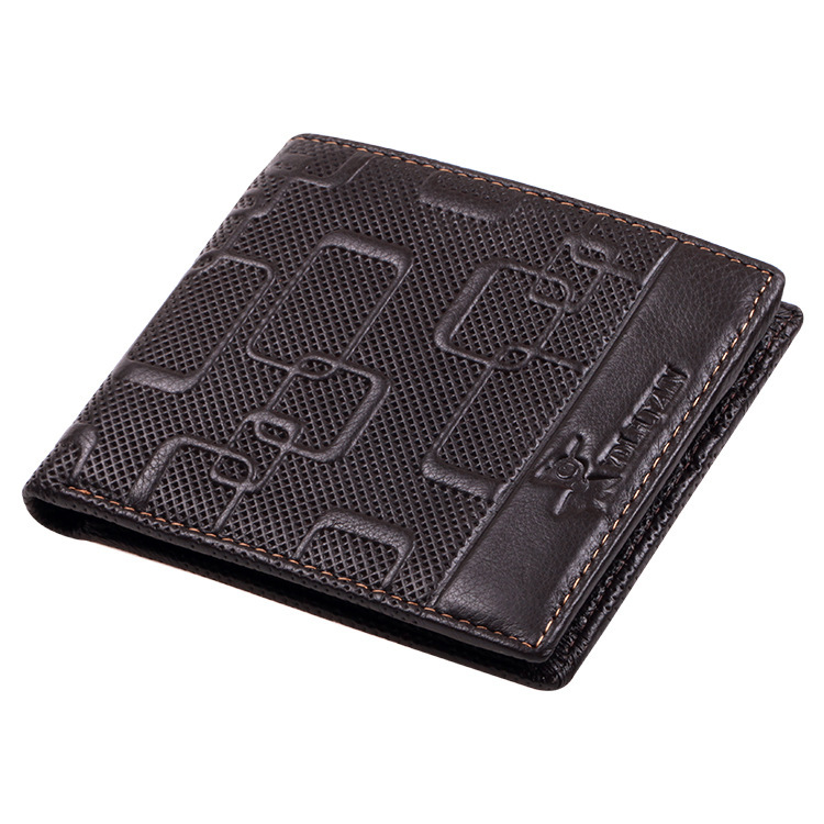 89334f6db046 Hot new Wallet Mens Print Credit/ID Purse Short Small Men Card Wallet  Leather Purses Cowhide Mini Wallets Brown Quality W5