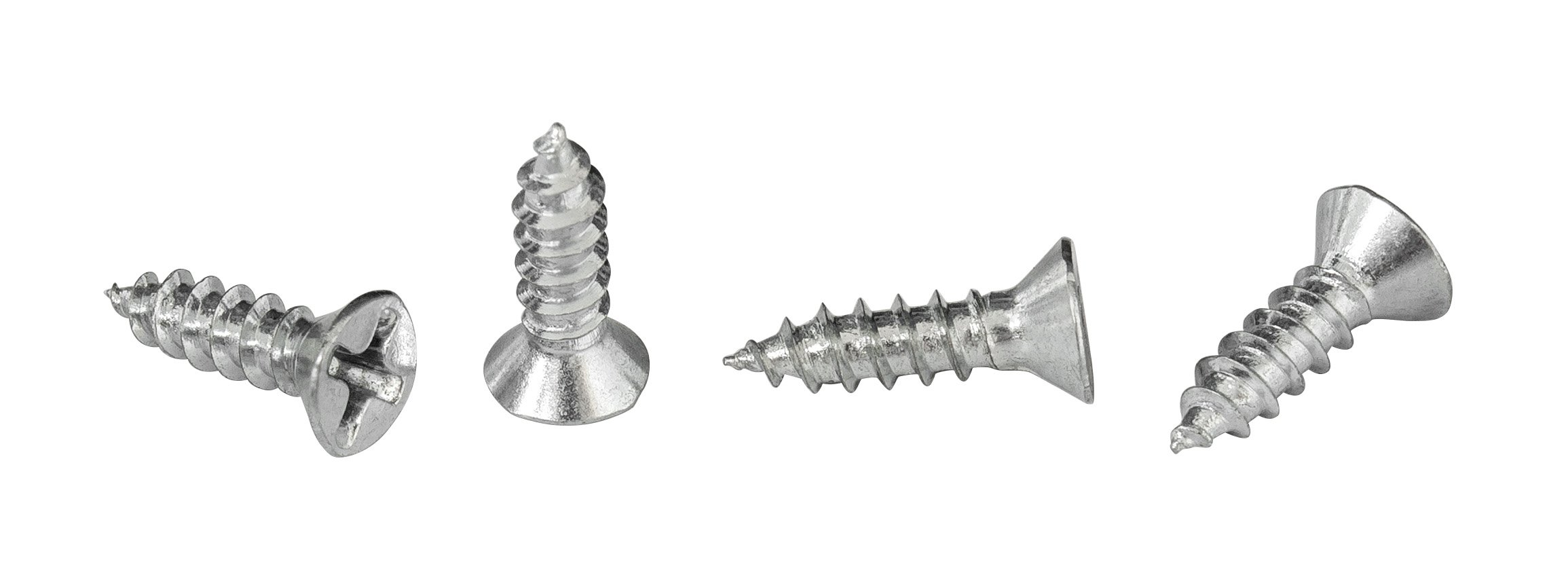 """#6 x 1/2"""" Phillips Flat Head Countersink Screw, Zinc-Plated Steel for Attaches Sheet Metal to Wood, Plastic, or Fiberglass - Box of 100"""