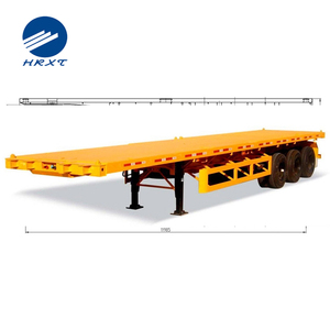 China best selling 3 axles 40ft container chassis semi trailer widely used low flatbed container semi-trailer for transport