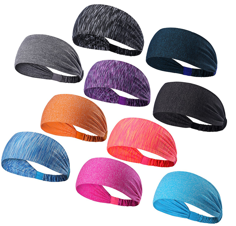 Wholesale Sweatband Nylon Yoga Headband for Fitness and Travel, 12 colors are available