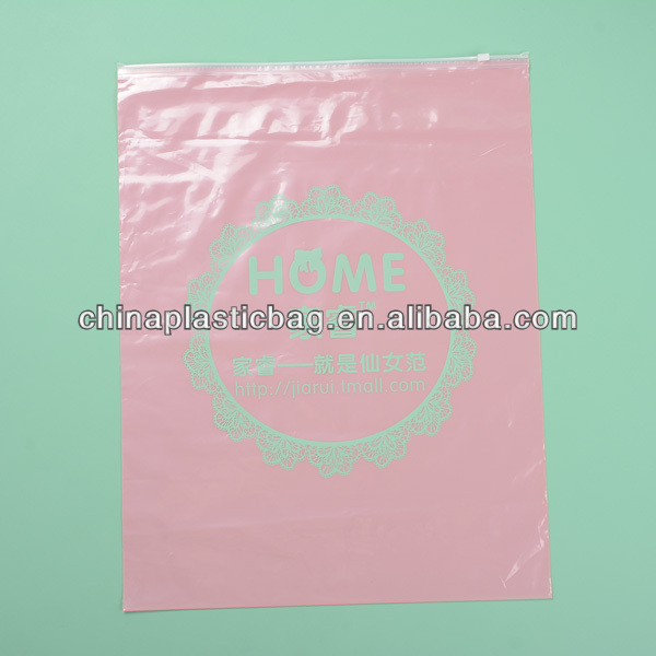 Custom design pvc plastic bag with ziplock top,widely used for grocery,store (zz09)