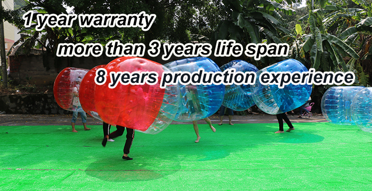 Inflatable outdoor color bumper balls air human soccer football bubble sport game for sale