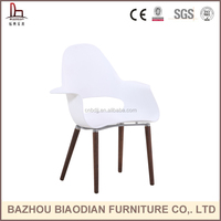 Classical furniture French lounge chair pp armrest dining room chair with beech wood legs for home restaurant furniture