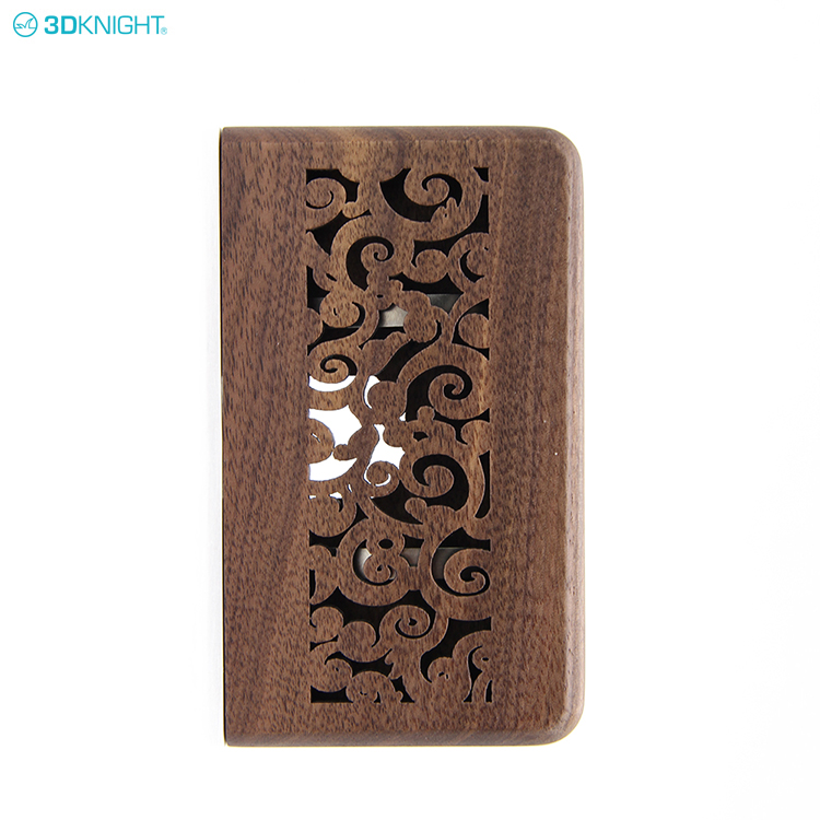 Bamboo Wood Factory OEM Handmade Natural Wooden Business ID Card Case Holder