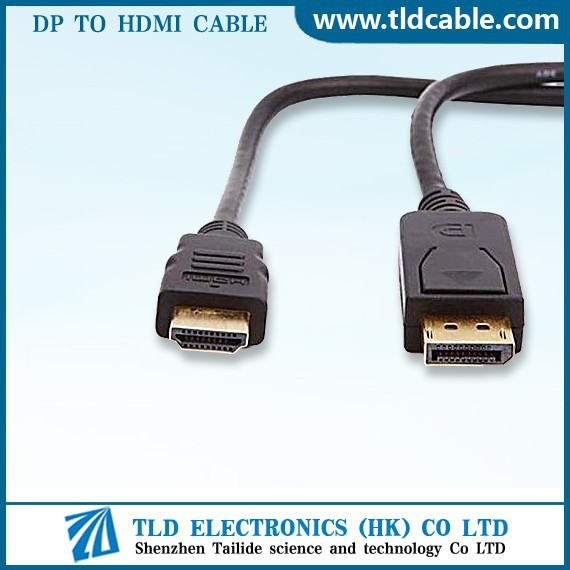 DisplayPort to HDMI Cable Gold Plated