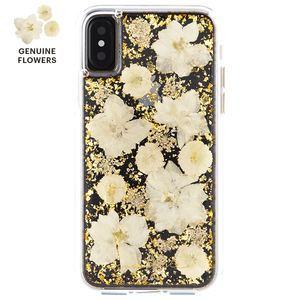 MC29-4 Genuine real flower glitter hybrid protector covers phone case