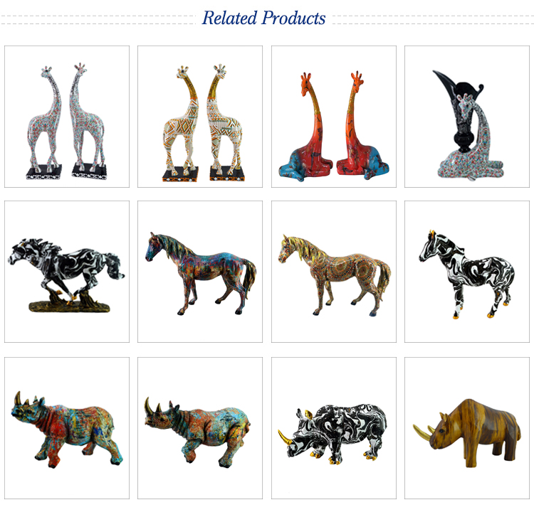Home Decoration Big Size Resin Horse Sculpture