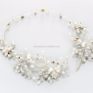 Latest handmade floral headband bridal headpiece