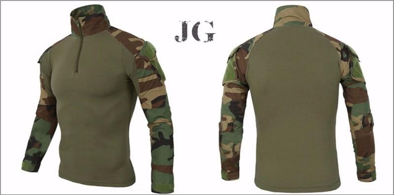 Taktisch Combat Uniform Hemd & Hose Tarnfarbe Uniform Anzug Waldland Herrenmode Sonstige