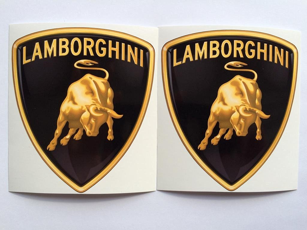 Buy 2 Lamborghini New Logo Die Cut Decals By Sbd Decals In Cheap
