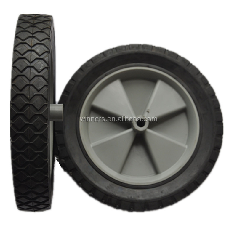 10X1.75 Semi-pneumatic Plastic Lawn Mower Wheel