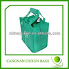 High strength non woven 6 bottle wine tote bag