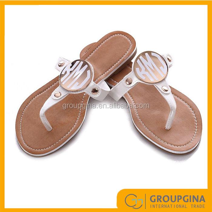 c0ca49701449e Women Summer Fashion Personalized Monogrammed Disc Sandals - Buy  Monogrammed Disc Sandals,Fashion Personalized Monogrammed Disc  Sandals,Women Summer ...