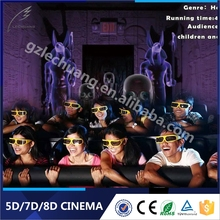 Indoor entertainment multiple joyfulness English movies theater equipment 5d game