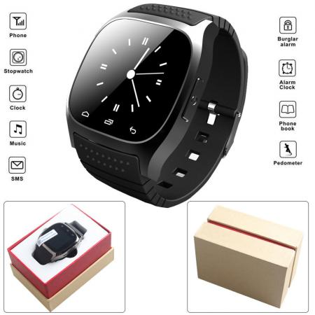 Smart Bluetooth Watch Smartwatch M26 with LED Display Barometer Alitmeter Music Player Pedometer