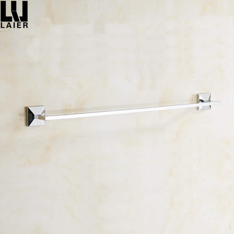 Laier New Design Bathroom Accessories Brass Chrome Finished 24 Inch Towel Rail For Bathroom Decor