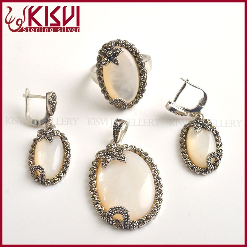 fashion hot sell tomato shape tai silver jewelry set