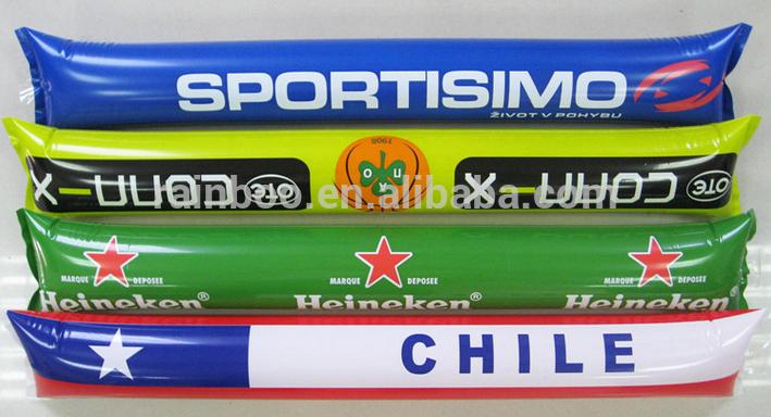 Heißes verkaufendes billiges PE druckte aufblasbaren geführten jubelnden Stock des PASS-EN71-1-2-3 für Werbungförderung ABMA208