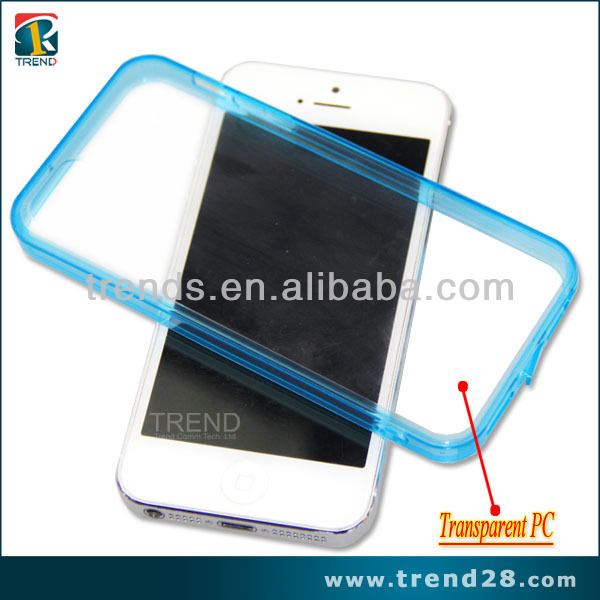 hot marketing two tone color blu cell phone case for iphone 4