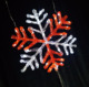 Led string light snowflake christmas/park/garden yard decor CE Rohs SAA approve in TAIZHOU