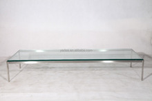 Marble/tempered glass contemporary lounge coffee table
