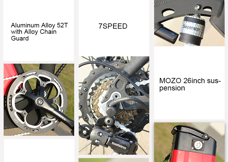 "20"" Inch Mountain Ebike Aluminum Alloy Full Suspension MTB  E-Bicycle Foldable Fashion E-bike  Folding Fatbike Electric Bike"