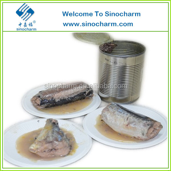 Chinese Best Canned Mackerel in Brine / Fish Canned