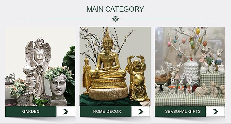 Hoge kwaliteit religieuze stijl home decor 14inch hoogte zitten boeddha standbeeld hars ganesh standbeeld