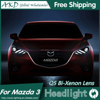 AKD Car Styling for MAZDA 3 LD Headlights MAZDA 3 LED Headlight Head Lamp Projector