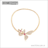 butterfly crystal necklace band & jewelry made with Austrian crystal necklace band