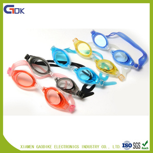Wholesale waterpoof silicone swimming goggle rubber goggles