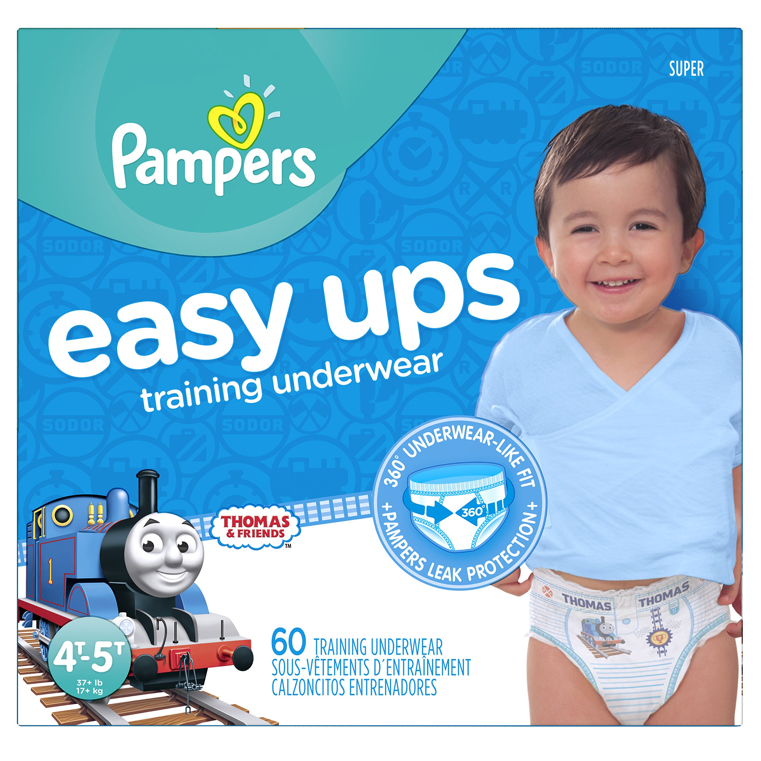 618f89af33c Get Quotations · Pampers Easy Ups Training Pants Pull On Disposable Diapers  for Boys Size 6 (4T-