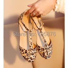 Moderné dámske leopardie letné sandálky z Aliexpress