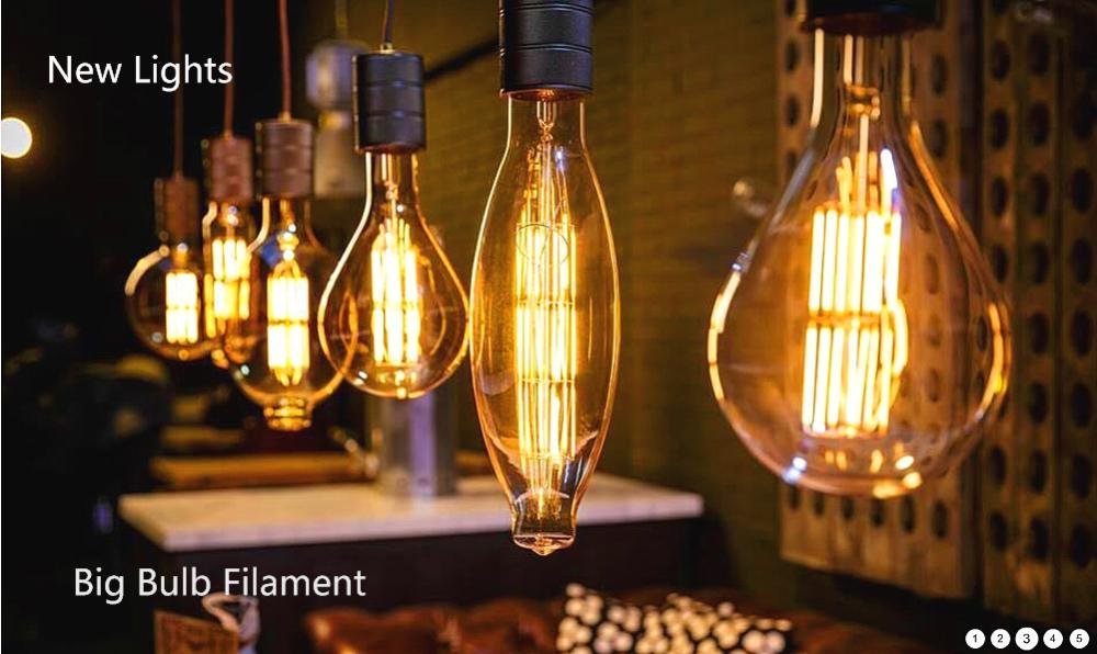 Bt180 Big Bulb Dimmable E26 E27 Oversize Edison Bulb Warm