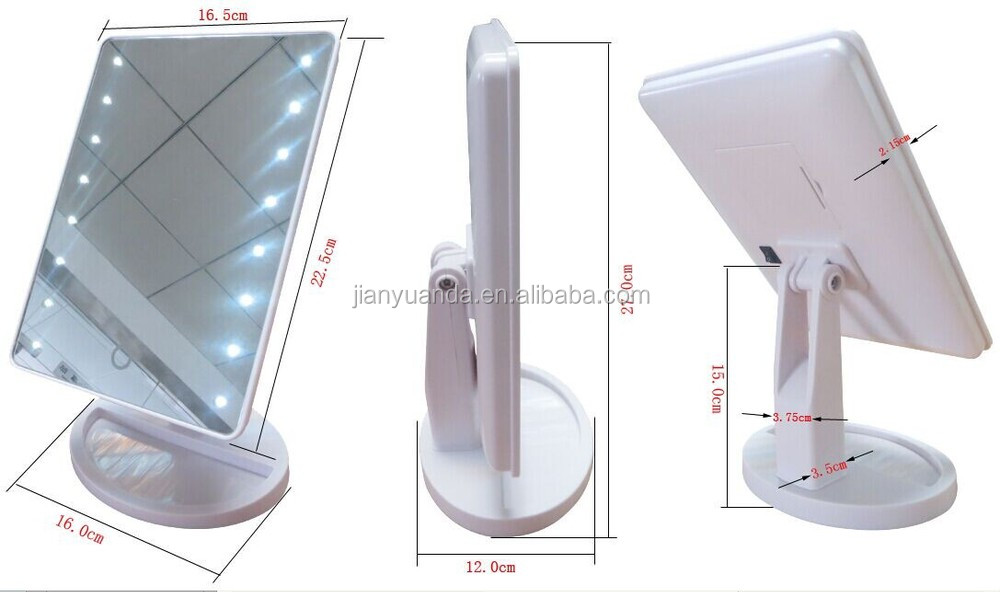 desktop cosmetic mriror /touch sensor mirror /hollywood mirror with light bulbs