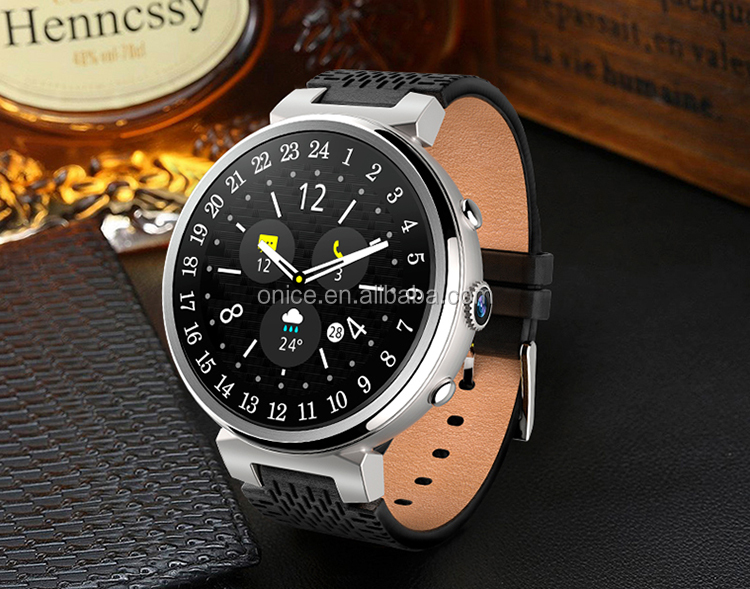 I6 fashion leather strap android smart watch 1.3inch TFT wcdma 3g one sim 2GB + 16GB Memory support wifi phone call SMS weather