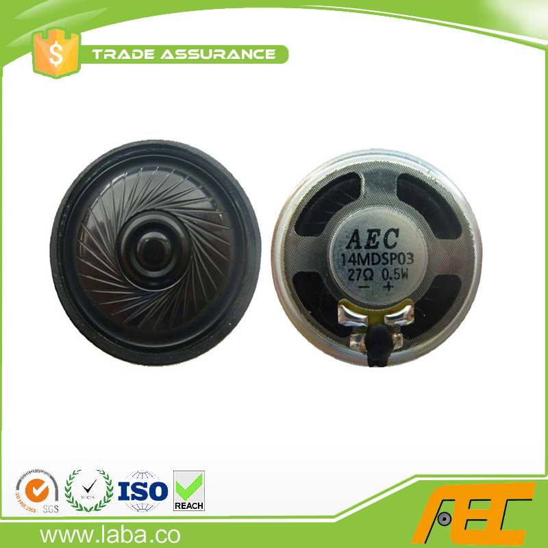 Free Sample 40mm 0.5w 27ohm Mini Headphone Speaker