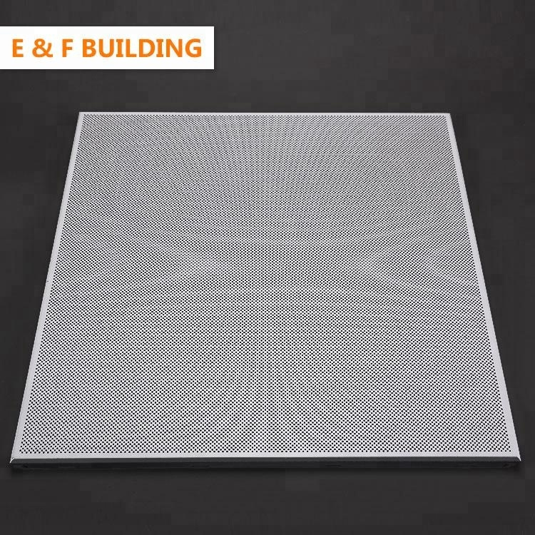 China Foshan Factory Perforated Metal False Ceiling Panels 600X600 Clip In Sheet Aluminum Metal Roof Ceiling
