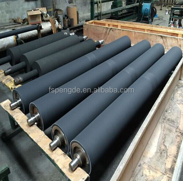 high impact resistant rubber conveyor coated roller