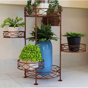 Outdoor Garden Wire Plant Stand 3 Tier Metal Flower Pot