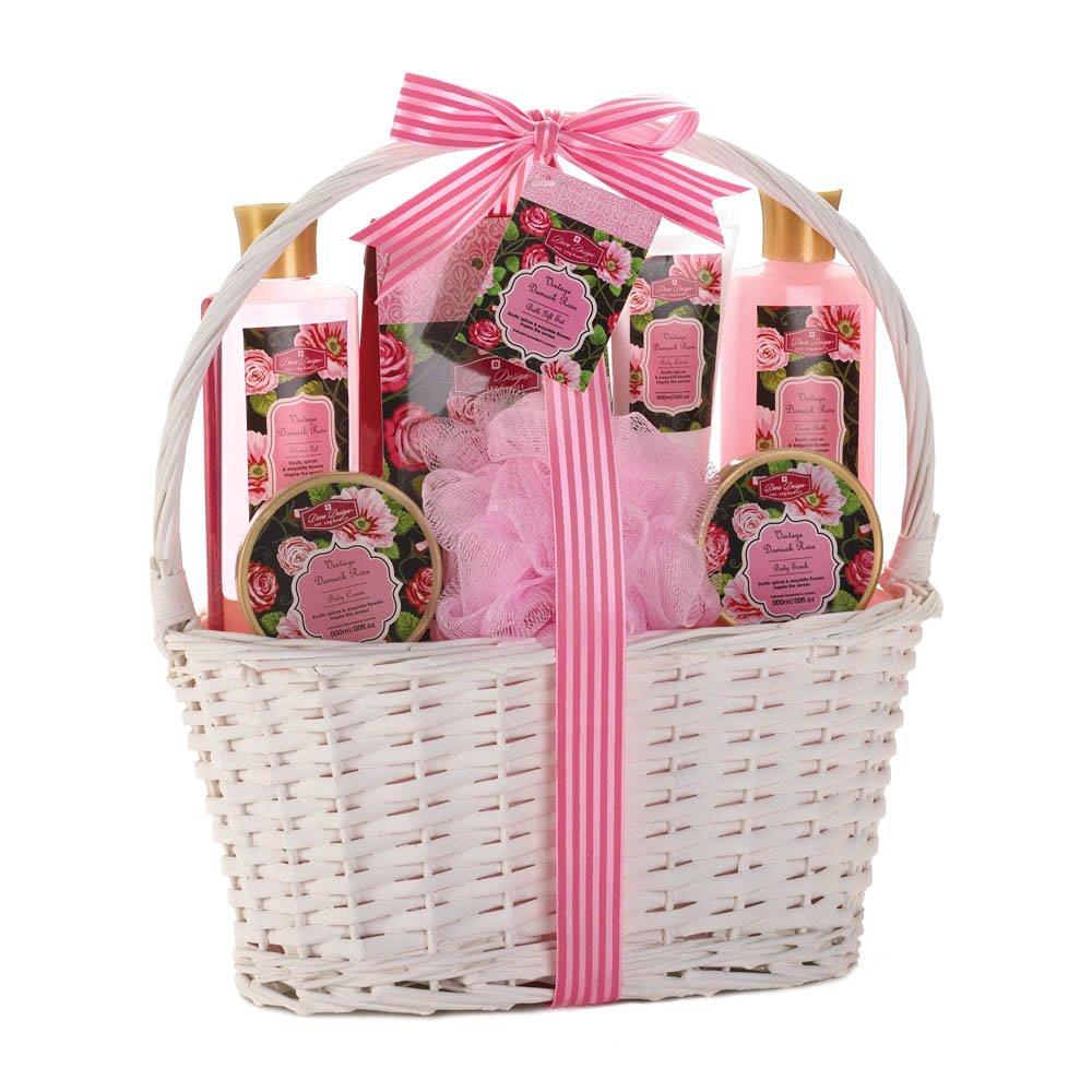 Buy Vintage Damask Rose Spa Basket Home Decor Home Decorative Items