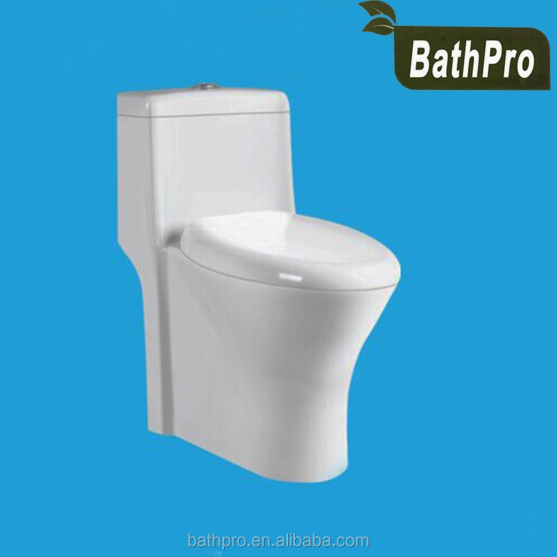 European dual flush floor mounted installation WC sanitary ware one piece siphonic ceramic toilet